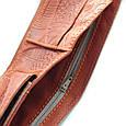 """Портмоне шкіряне з кишенею для монет і відділенням на блискавці """"ORANGE FEATHERS"""" (Guk). Колір помаранчевий, фото 5"""