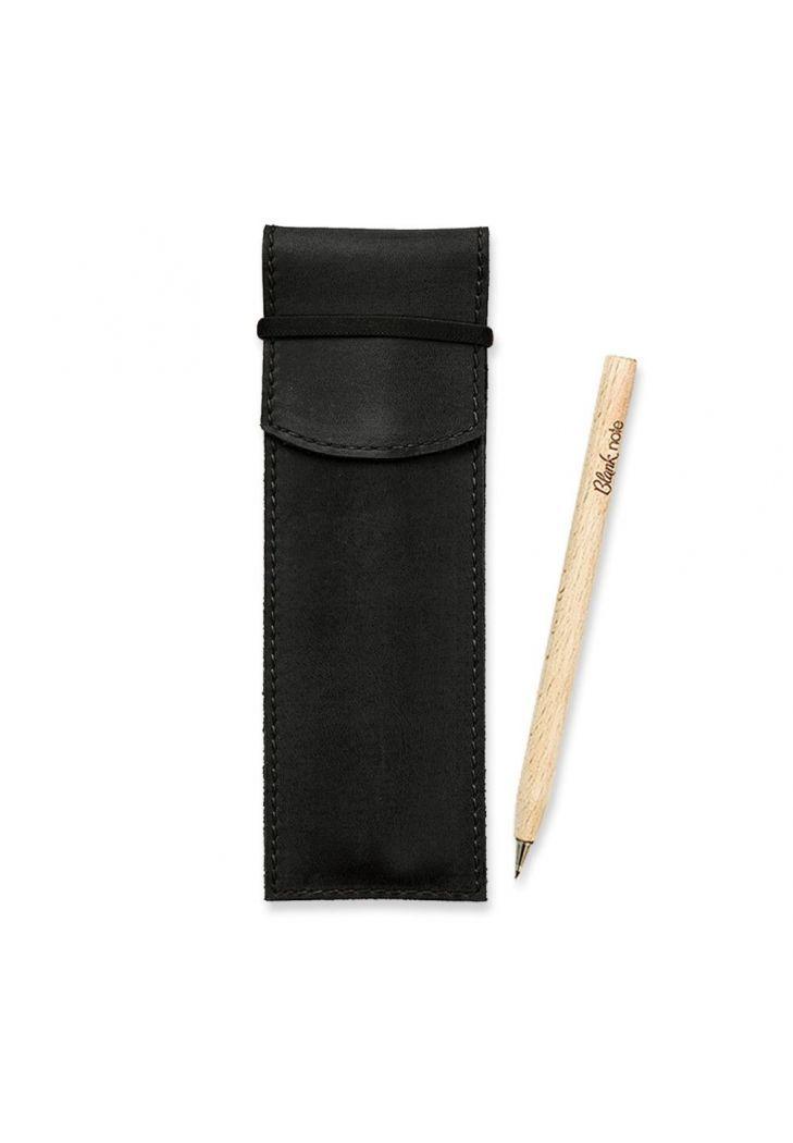 Чехол для ручек кожаный черный (ручная работа)