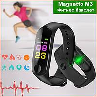 Умный фитнес браслет UWatch Magnetto M3 / в стиле Xiaomi Band М3 / Smart Watch / смарт часяомсы Lefun, чёрный