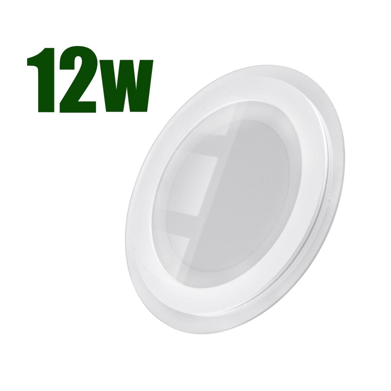 Светильник светодиодный встраиваемый LEDEX 12Вт 6500K 960lm круг стекло (102959)