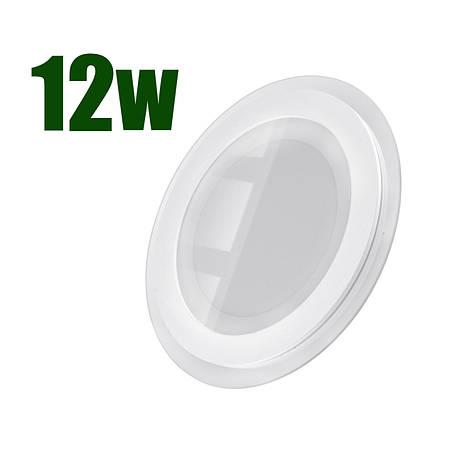 Светильник светодиодный встраиваемый LEDEX 12Вт 6500K 960lm круг стекло (102959), фото 2