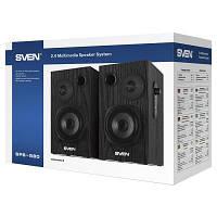 Акустична система 2.0 SVEN SPS-580 black, деревина (MDF), 2 x 9 Вт (RMS), 2.0 (RCA)