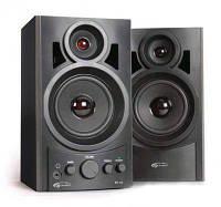 Акустична система 2.0 GEMIX TF-10 Black, 20кГц, 2 x 5 Вт (RMS), mini Jack 3.5mm, RCA, деревина (MDF)