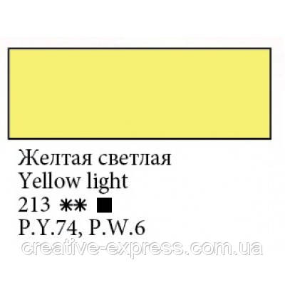 Фарба акрилова, Жовта світла, 100мл, Ладога, фото 2
