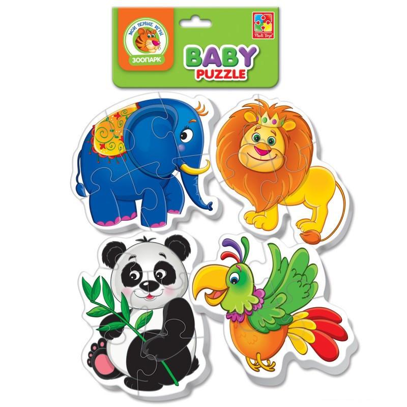 """Бебі пазли """"Зоопарк"""" VT1106-80 (укр), дитяча іграшка, подарунок для дитини"""
