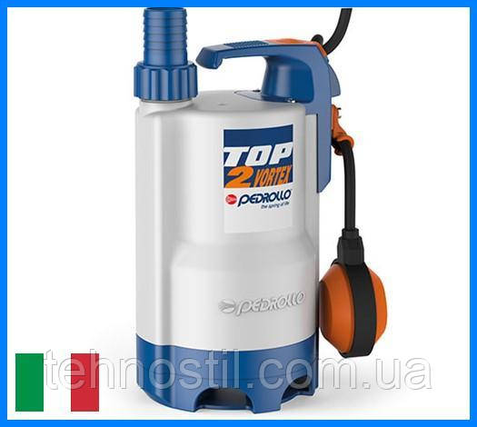 Дренажний насос Pedrollo TOP 2-VORTEX (10.8 м³, 7 м, 0.37 кВт)