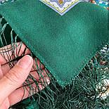 Подарок с ярмарки 1858-9, павлопосадский платок шерстяной  с шелковой бахромой, фото 6