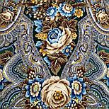 Подарок с ярмарки 1858-9, павлопосадский платок шерстяной  с шелковой бахромой, фото 3