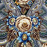 Подарок с ярмарки 1858-9, павлопосадский платок шерстяной  с шелковой бахромой, фото 7