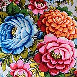 Павловопосадский 1816-1, павлопосадский платок (шаль) из уплотненной шерсти с шелковой вязанной бахромой, фото 2
