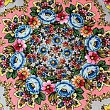 Павловопосадский 1816-1, павлопосадский платок (шаль) из уплотненной шерсти с шелковой вязанной бахромой, фото 4