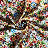 Павловопосадский 1816-1, павлопосадский платок (шаль) из уплотненной шерсти с шелковой вязанной бахромой, фото 8