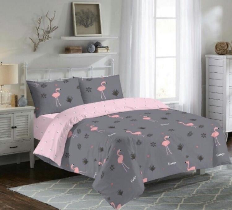 """Комплект двуспальный постельного белья ТМ """"Ловец снов"""", Фламинго фиолет"""