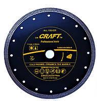 Диск CRAFT алмазний із ромбоподібним різцем 230*22,2*2,0*10мм - мокр/сух різ кахелю, кераміки, марму