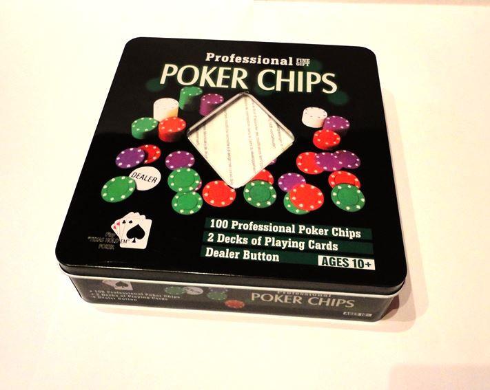 Покерный набор 2 колоды карт, 100 фишек