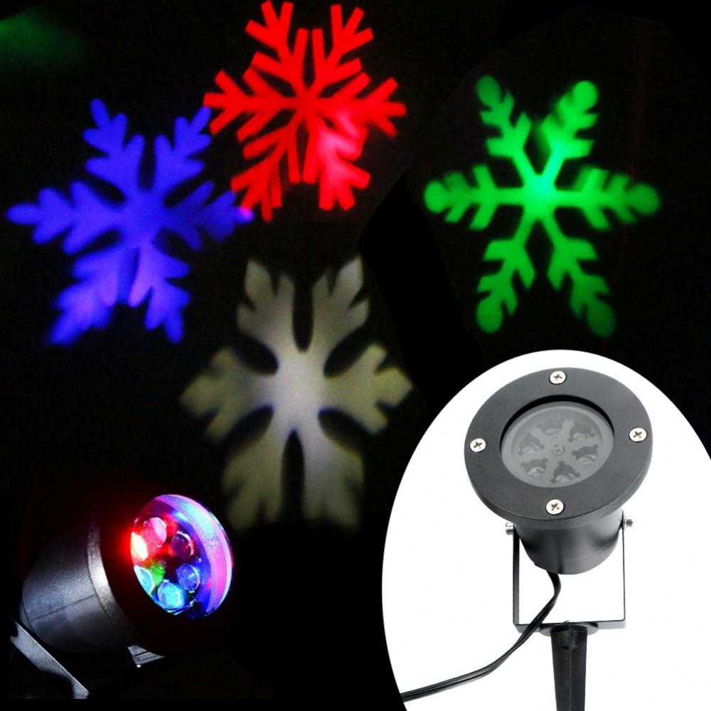 Уличный лазерный проектор Снежинки Led Strahler Schneeflocke (лазерная подсветка дома)