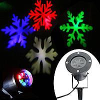 Уличный лазерный проектор Снежинки Led Strahler Schneeflocke (лазерная подсветка дома), фото 1