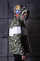 ✔️ Куртка пуховик в стиле Adidas x Bape