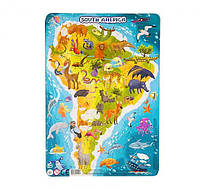 """Пазл DoDo в рамке """"Южная Америка"""" R300178, детская игрушка, подарок для ребенка"""