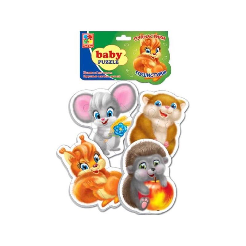 """Беби пазлы """"Пухнастики"""" VT1106-75 (укр), детская игрушка, подарок для ребенка"""