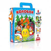 """Макси пазлы для самых маленьких VT2909 (""""Колобок"""" VT2909-09 (укр)), детская игрушка, подарок для ребенка"""