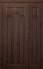Двустворчатые, полуторные, входные двери Арка винорит на улицу 120 см.