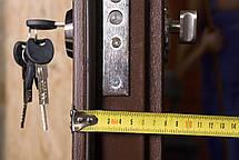Двустворчатые, полуторные, входные двери Арка винорит на улицу 120 см., фото 2