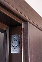 Двустворчатые, полуторные, входные двери Арка винорит на улицу 120 см., фото 3
