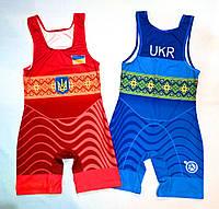 Трико борцовское сборная Украины UWW красное детское подростковое взрослое