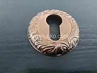 Накладка под ключ Kedr PZ с резьбой (кофе)