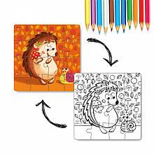 Пазл DoDo 2в1 Ежик 300119, детская игрушка, подарок для ребенка