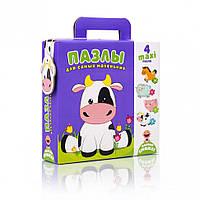 """Пазлы для самых маленьких VT2901 (""""Коровка"""" (рус)), детская игрушка, подарок для ребенка"""