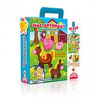 """Пазл с липучками для самых маленьких VT2907 (""""Чей малыш?"""" (укр)), детская игрушка, подарок для ребенка"""