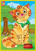 """Мягкие пазлы А5 VT1103 (""""Любимцы"""" Кот), детская игрушка, подарок для ребенка"""