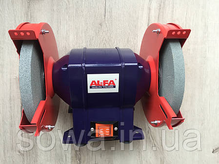✔️ Точильний верстат Al-FA_альфа ALBG18 ( 1800Вт, 200мм - коло ), фото 2
