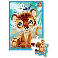 """Мягкие пазлы А5 VT1103 (""""Тигренок""""), детская игрушка, подарок для ребенка"""