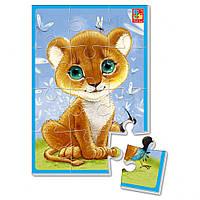 """Мягкие пазлы А5 VT1103 (""""Львенок""""), детская игрушка, подарок для ребенка"""