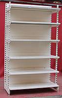 Торговые пристенные (односторонные) стеллажи «Модерн» (Польша), 230х132 см., усиленные, Б/у, фото 1