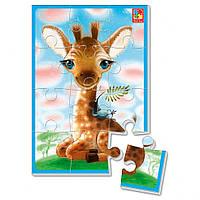 """Мягкие пазлы А5 VT1103 (""""Жирафчик""""), детская игрушка, подарок для ребенка"""