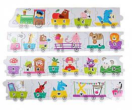 Пазл DoDo Азбука Паровозик (английский язык) 300251, детская игрушка, подарок для ребенка