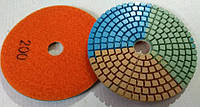 Алмазный круг Черепашка р200 гибкий диск под липучку трехцветная