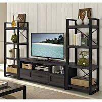 Подставка под телевизор с полками в стиле ЛОФТ -«Three storey house»