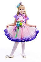 Детский карнавальный костюм для девочки Весна «Розовая дымка» 100-110 см, 115-125 см, розовый