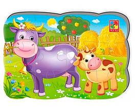 """Пазлы на магните А5 """"Корова и теленок"""" УКР VT3205-74, детская игрушка, подарок для ребенка"""