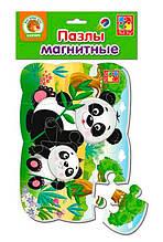 """Пазлы на магните А5 """"Пандочки"""" УКР VT3205-80, детская игрушка, подарок для ребенка"""