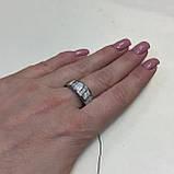Огненный опал кольцо с белым опалом в серебре 18,5-19 размер, фото 4