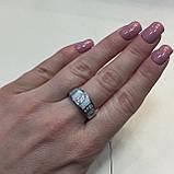 Огненный опал кольцо с белым опалом в серебре 18,5-19 размер, фото 3