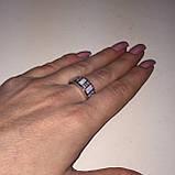 Огненный опал кольцо с белым опалом в серебре 18,5-19 размер, фото 5
