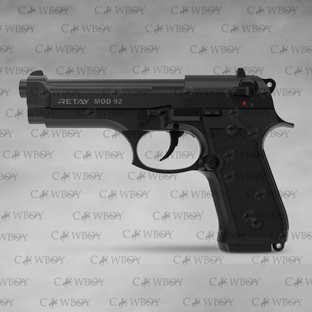 Пистолет стартовый Retay Mod 92, Black