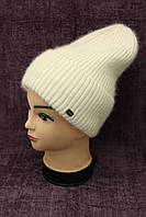 Женская вязаная шапка брют темно молочного цвета Odyssey модель Маренго (19486)